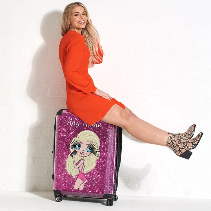 ClaireaBella Selfie Glitter Effect Suitcase - Image 1