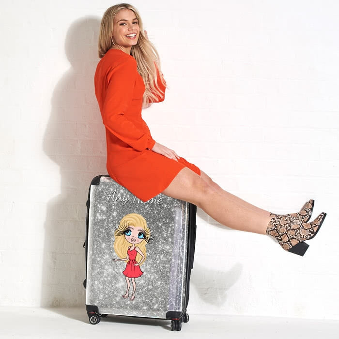 ClaireaBella Glitter Effect Suitcase - Image 4