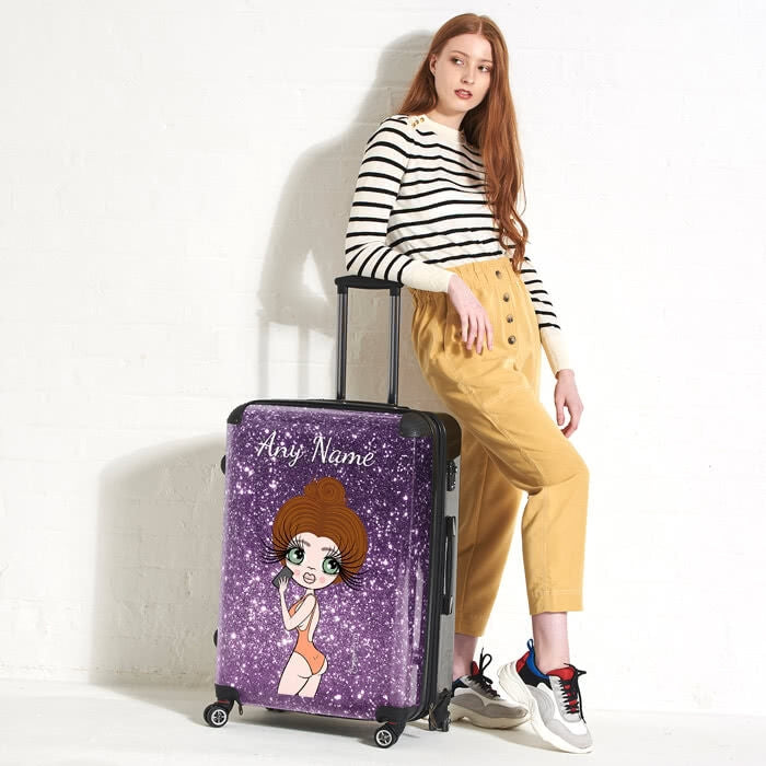 ClaireaBella Selfie Glitter Effect Suitcase - Image 4