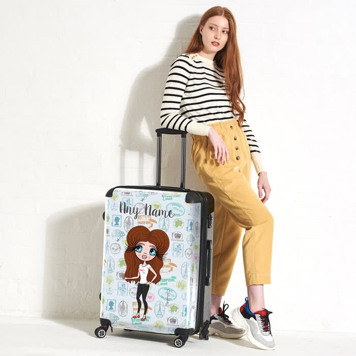 ClaireaBella Travel Stamp Suitcase - Image 4