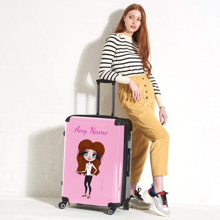ClaireaBella Pastel Pink Suitcase - Image 3
