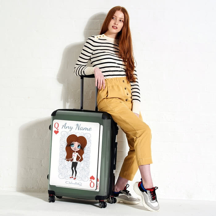 ClaireaBella Queen of Hearts Suitcase - Image 1