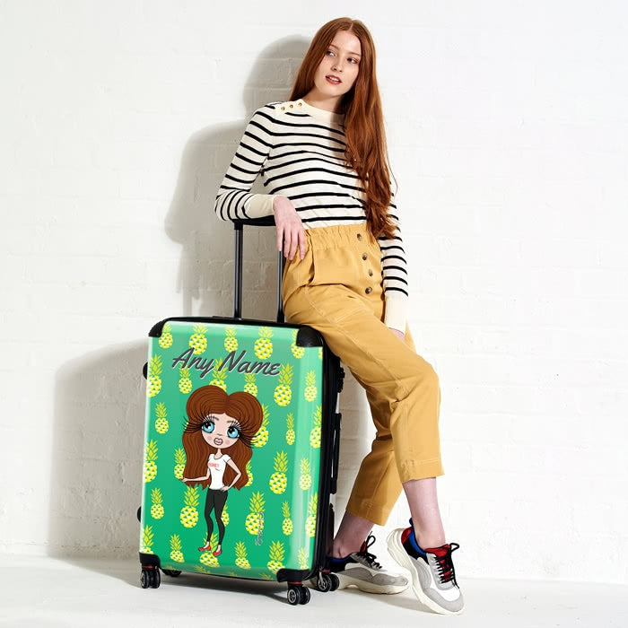 ClaireaBella Pineapple Print Suitcase - Image 5