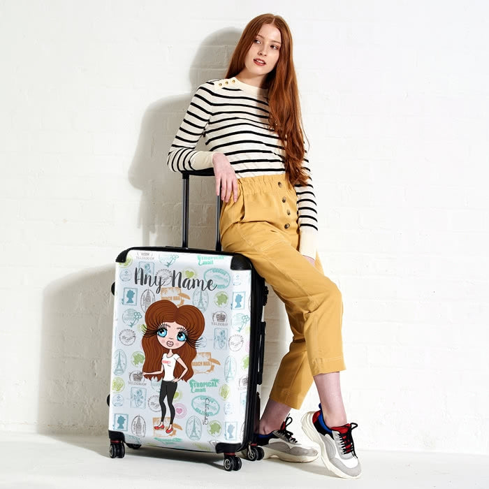 ClaireaBella Travel Stamp Suitcase - Image 1