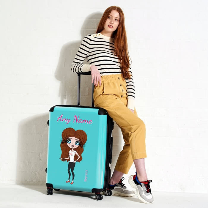 ClaireaBella Turquoise Suitcase - Image 2