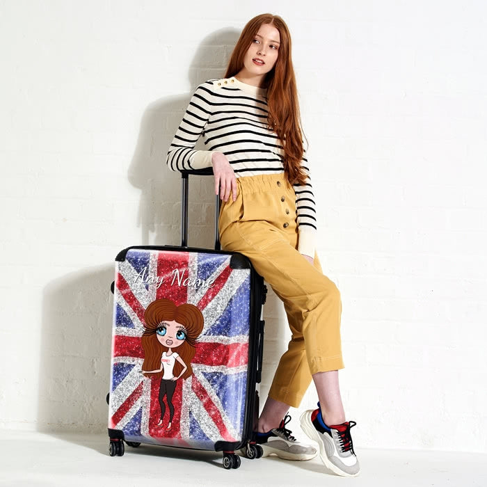ClaireaBella Glitter Effect Union Jack Suitcase - Image 4