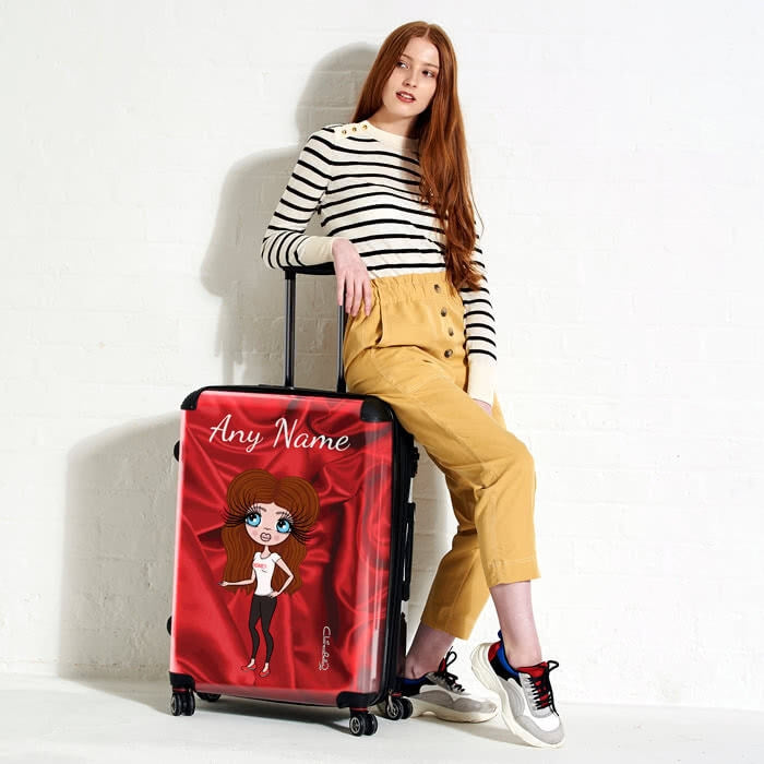 ClaireaBella Silky Satin Effect Suitcase - Image 2