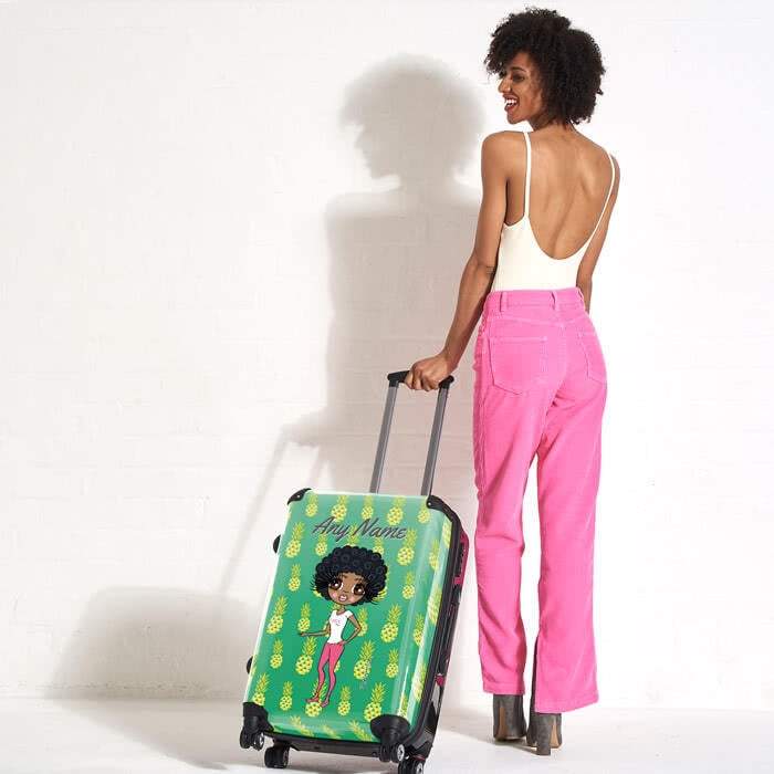 ClaireaBella Pineapple Print Suitcase - Image 6