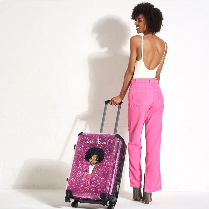 ClaireaBella Glitter Effect Suitcase - Image 5
