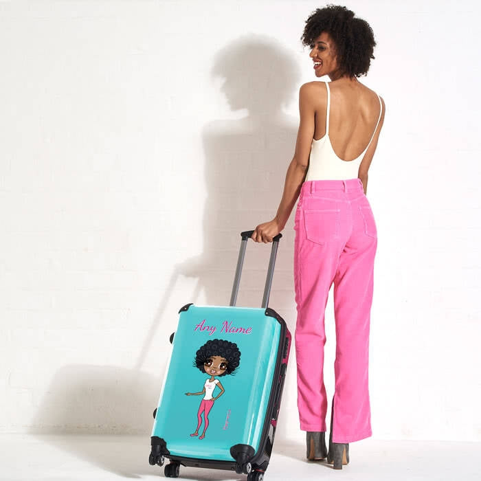 ClaireaBella Turquoise Suitcase - Image 1