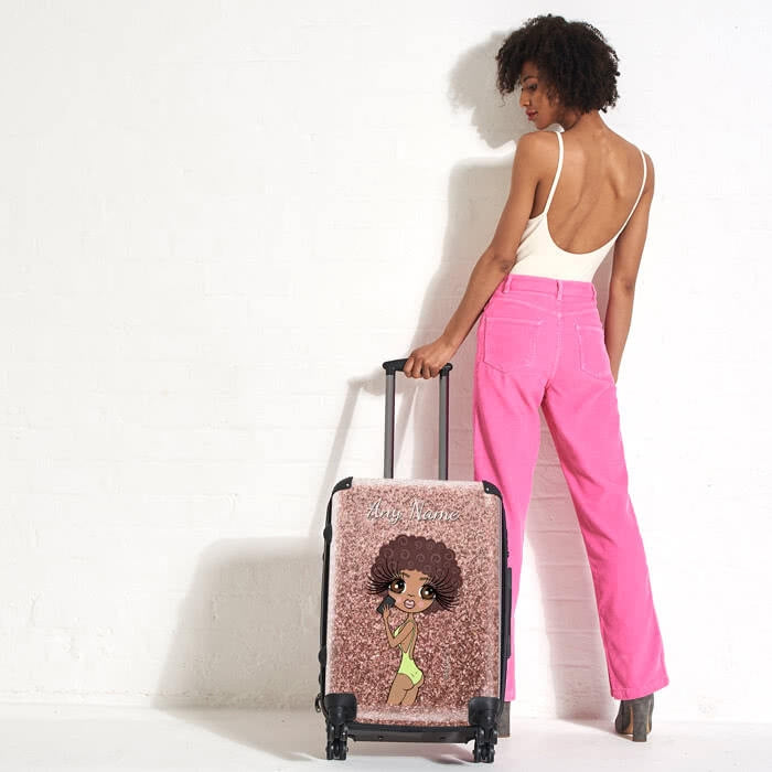 ClaireaBella Selfie Glitter Effect Suitcase - Image 2
