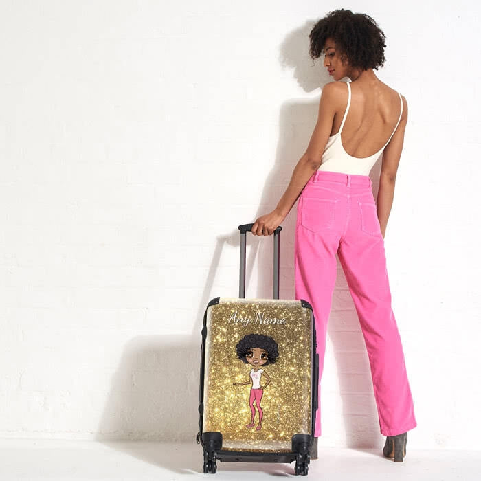 ClaireaBella Glitter Effect Suitcase - Image 6