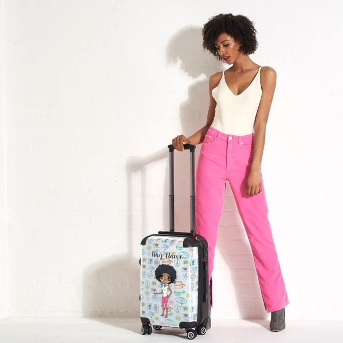 ClaireaBella Travel Stamp Suitcase - Image 3