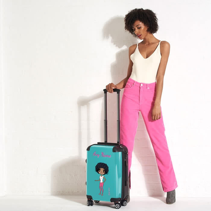 ClaireaBella Turquoise Suitcase - Image 4