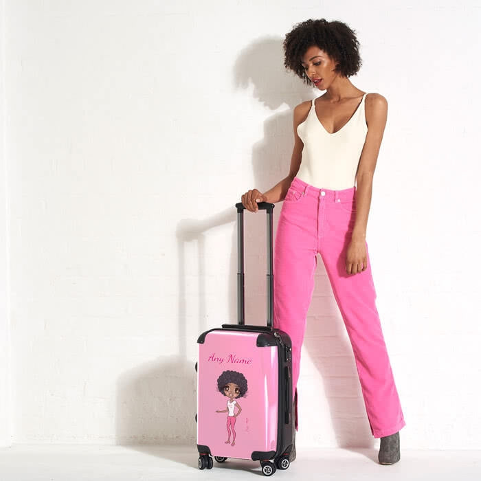 ClaireaBella Pastel Pink Suitcase - Image 1