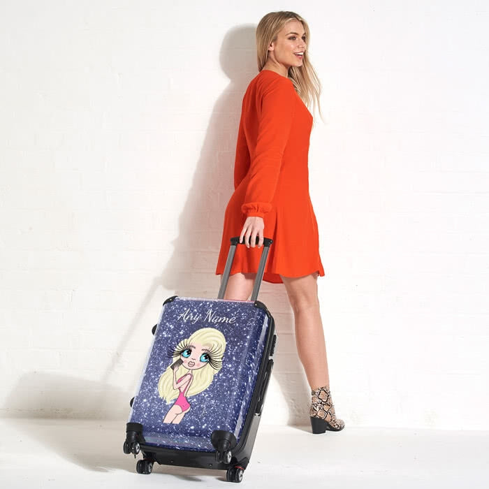 ClaireaBella Selfie Glitter Effect Suitcase - Image 3
