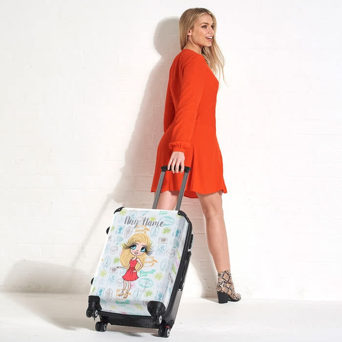 ClaireaBella Travel Stamp Suitcase - Image 2