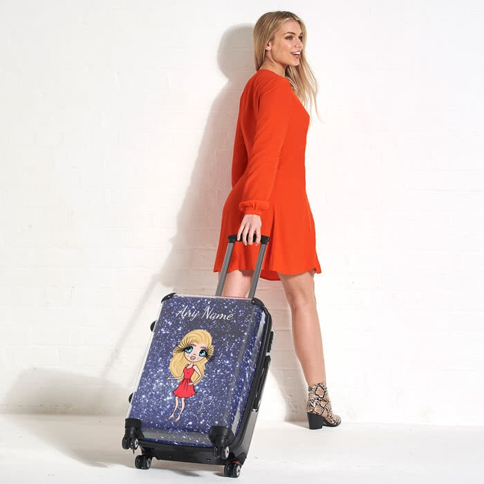 ClaireaBella Glitter Effect Suitcase - Image 3