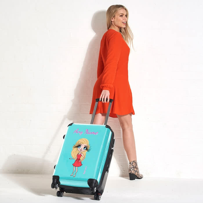 ClaireaBella Turquoise Suitcase - Image 3