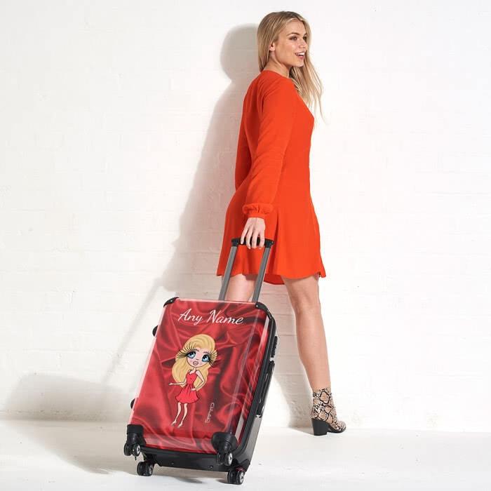 ClaireaBella Silky Satin Effect Suitcase - Image 1
