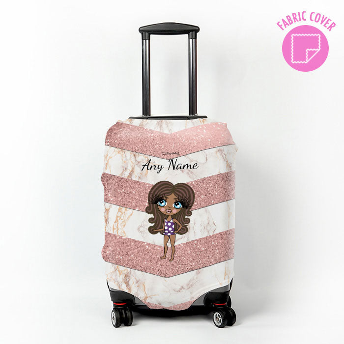 ClaireaBella Girls Chevron Geo Suitcase Cover