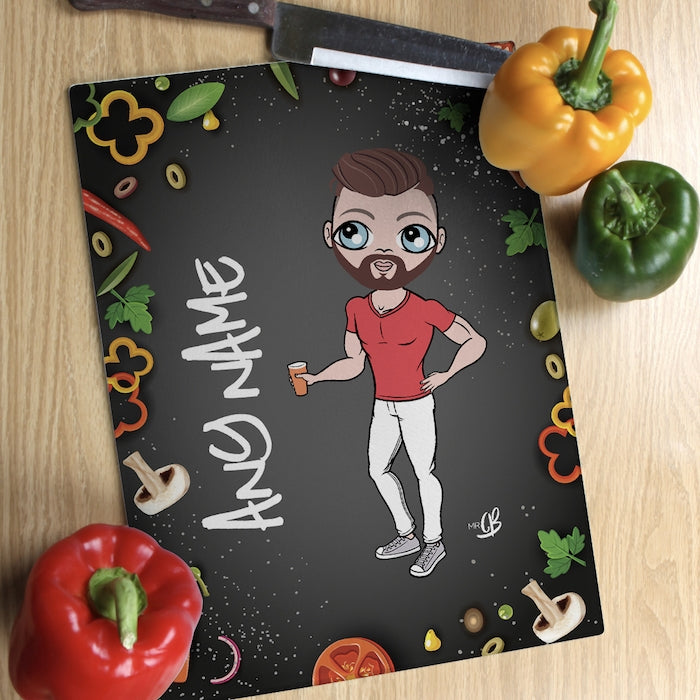 MrCB Glass Chopping Board - Foodie Fun - Image 1