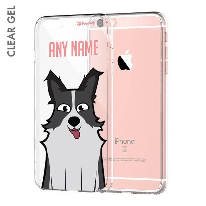 Personalised Dog Close Up Clear Soft Gel Phone Case - Image 1