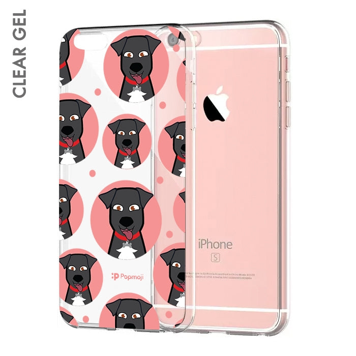Personalised Dog Emoji Clear Soft Gel Phone Case - Image 1
