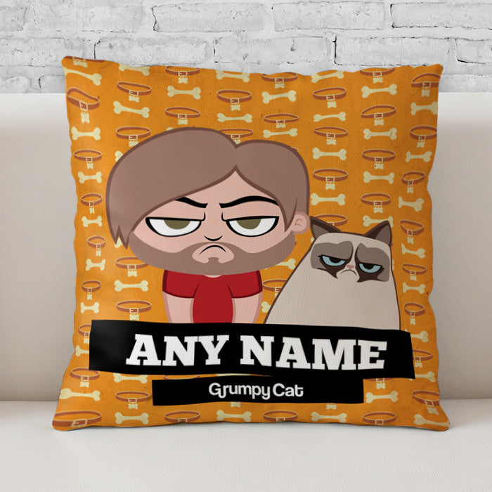 Grumpy Cat Bone Collar Cushion