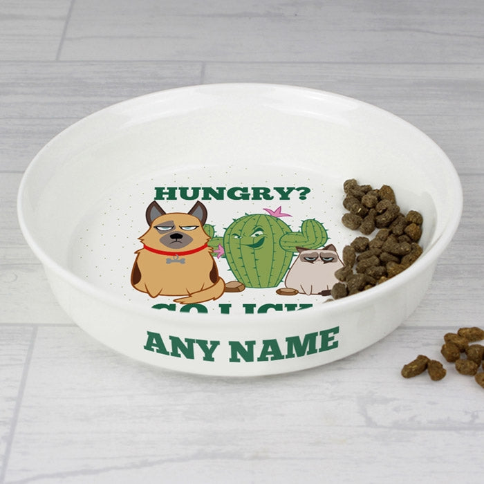 Grumpy Cat Cactus Small Dog Bowl - Image 2