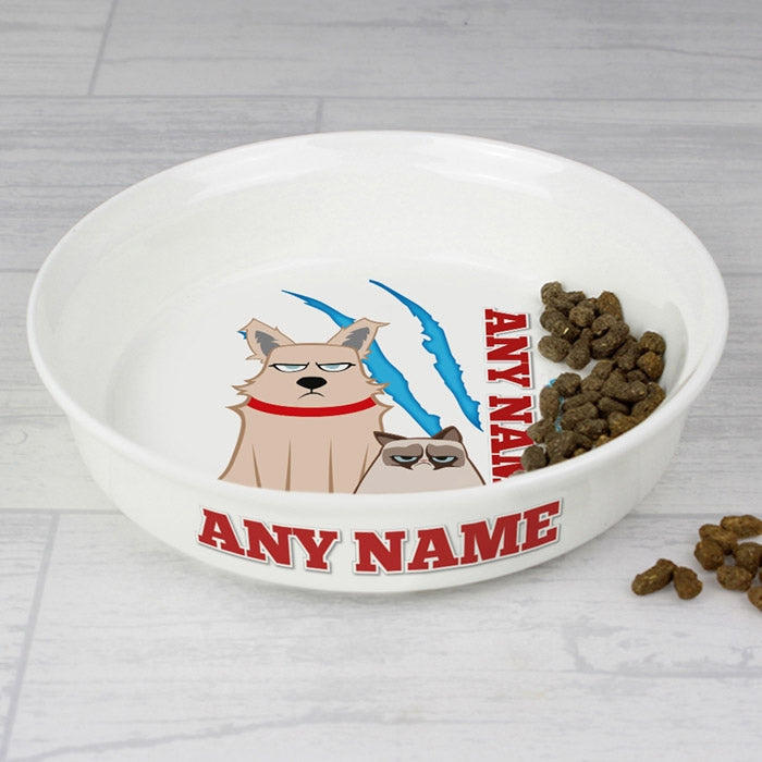 Grumpy Cat Claw Scratch Small Dog Bowl - Image 2