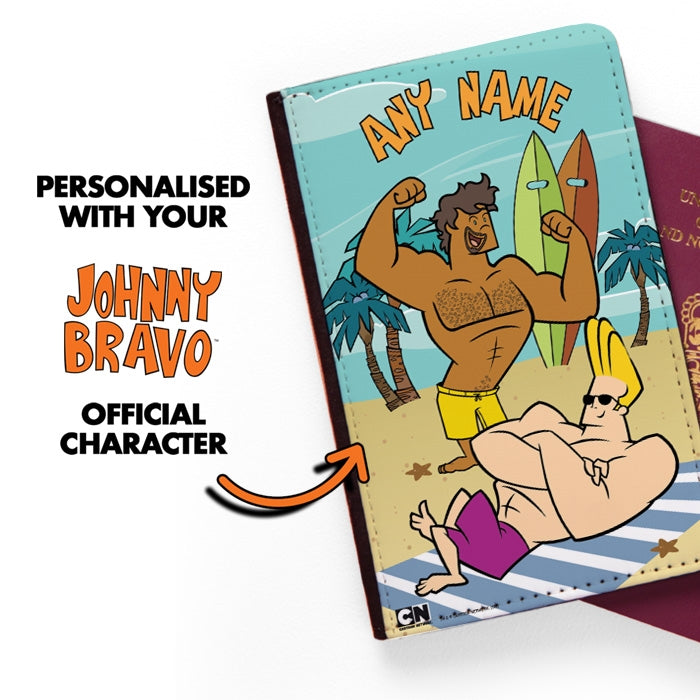 Johnny Bravo Guys Sunbathing Passport Cover - Image 2