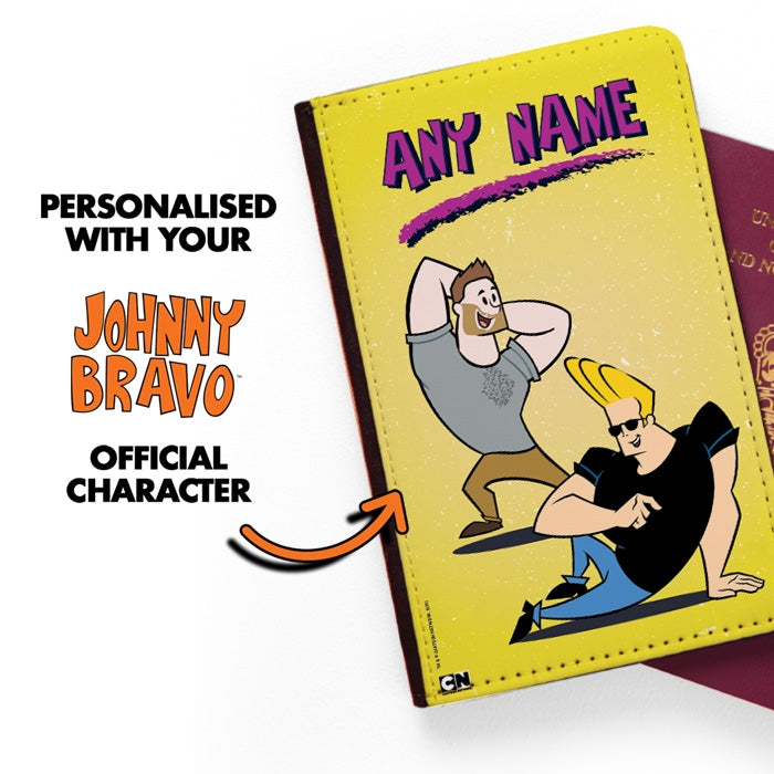 Johnny Bravo Guys Distressed Yellow Passport Cover - Image 2