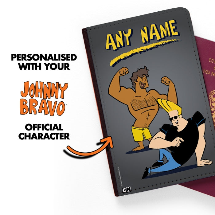 Johnny Bravo Guys Grey Passport Cover - Image 2