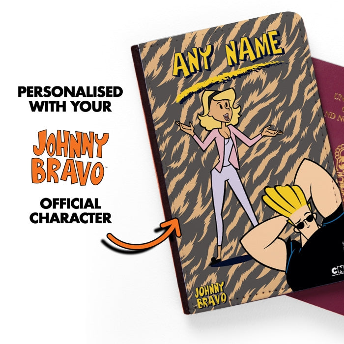 Johnny Bravo Ladies Animal Print Passport Cover - Image 2