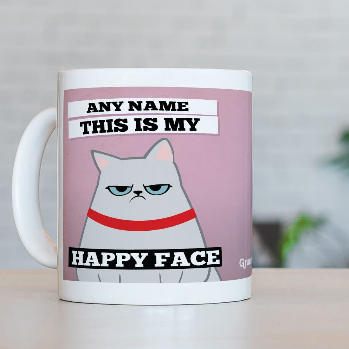 Grumpy Cat Happy Face Mug - Image 3