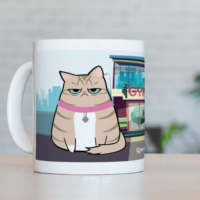 Grumpy Cat Face Exercise Mug - Image 5