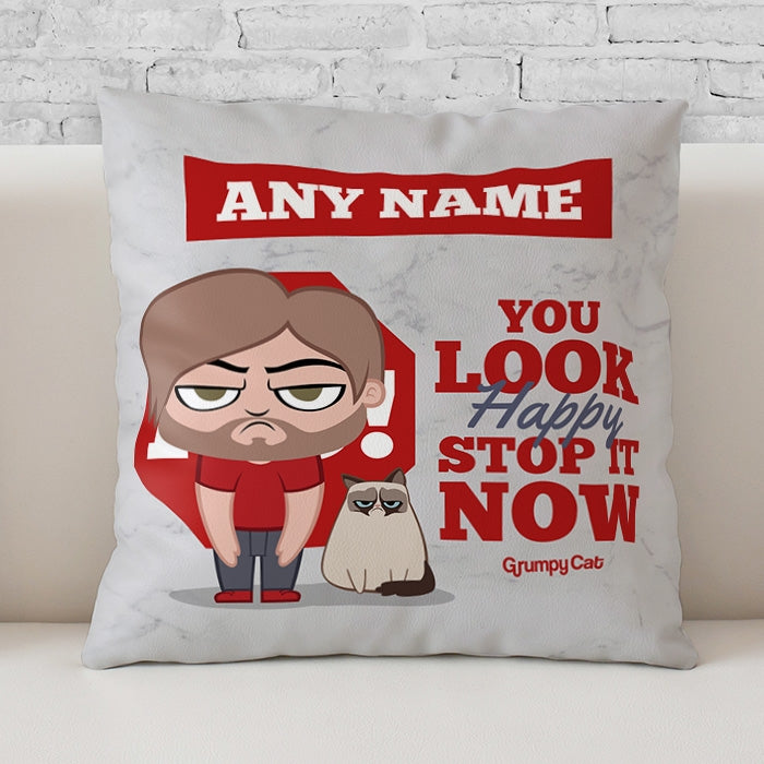 Grumpy Cat Stop It Cushion - Image 1