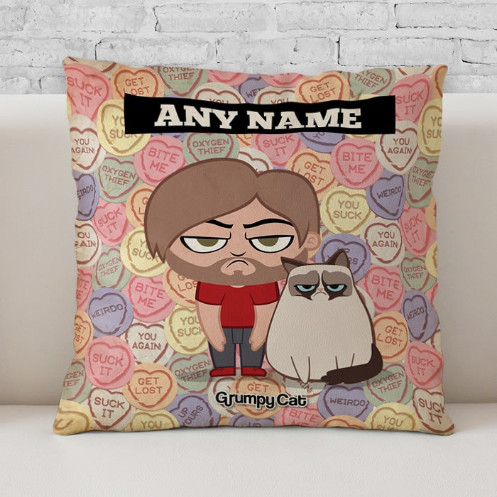 Grumpy Cat Lovehearts Cushion - Image 3