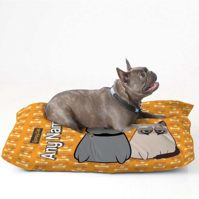 Grumpy Cat Bone Collar Pet Bed - Image 1