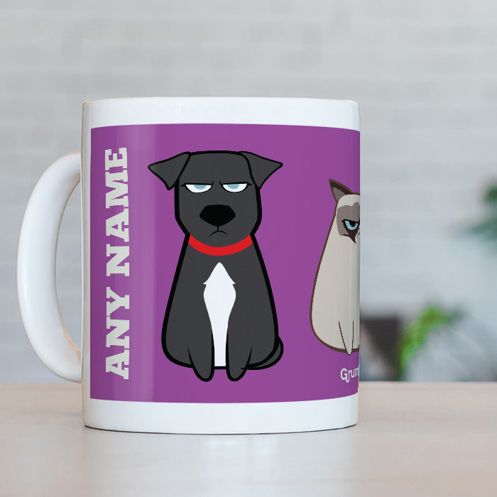 Grumpy Cat Purple Mug
