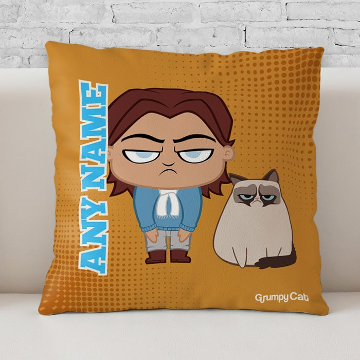Grumpy Cat Orange Cushion - Image 1