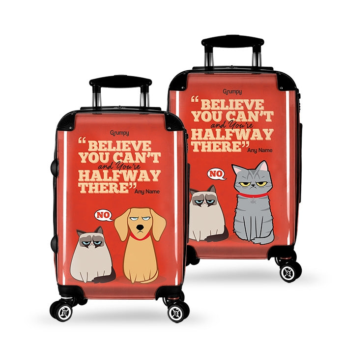Grumpy Cat Believe Suitcase - Image 2