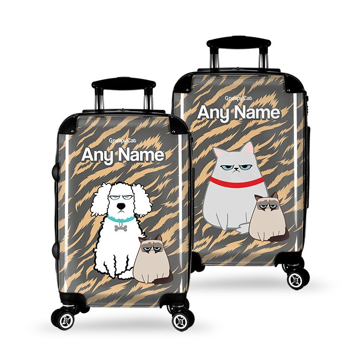 Grumpy Cat Animal Print Suitcase - Image 2