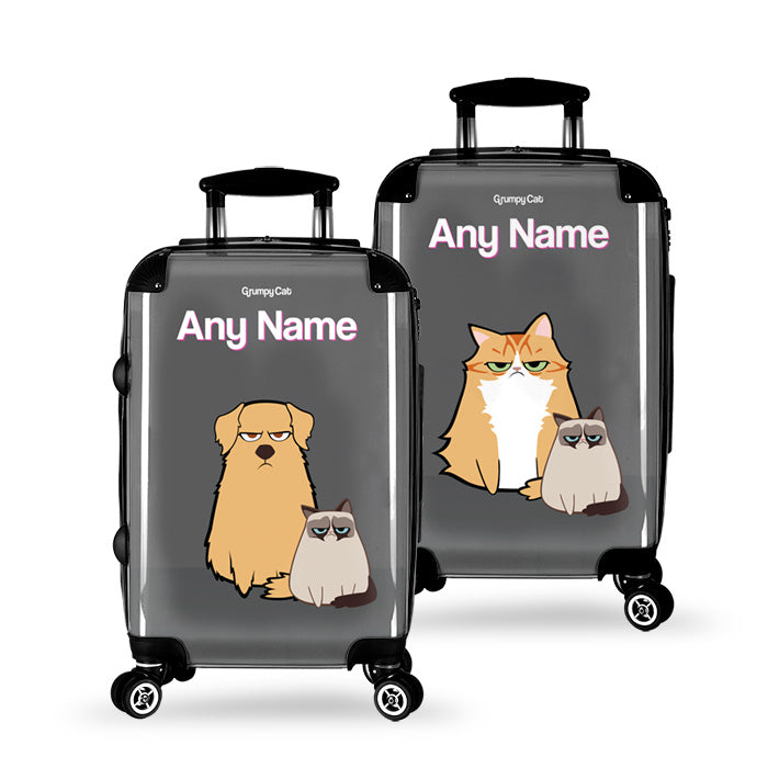 Grumpy Cat Charcoal Suitcase