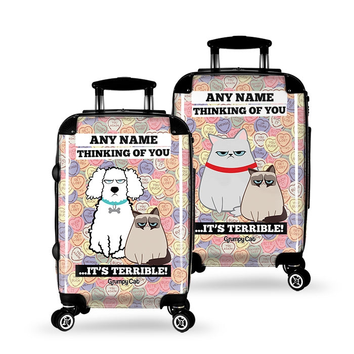 Grumpy Cat Lovehearts Suitcase - Image 2