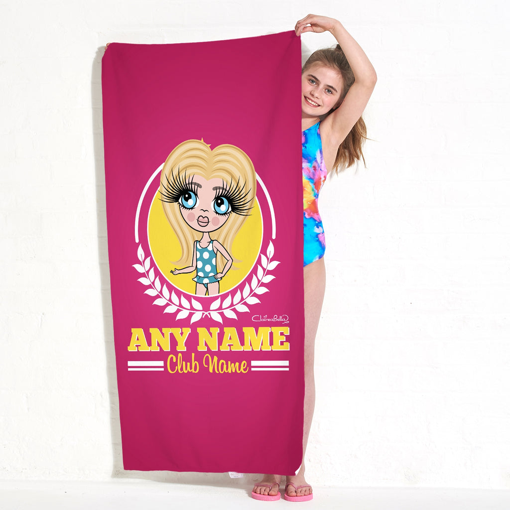 ClaireaBella Girls Varsity Swimming Towel - Image 1