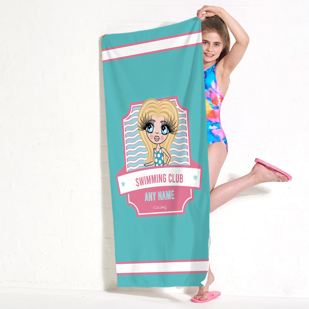 ClaireaBella Girls Emblem Swimming Towel - Image 4