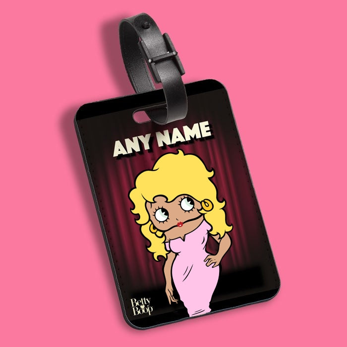 Betty Boop Curtain Call Luggage Tag - Image 1