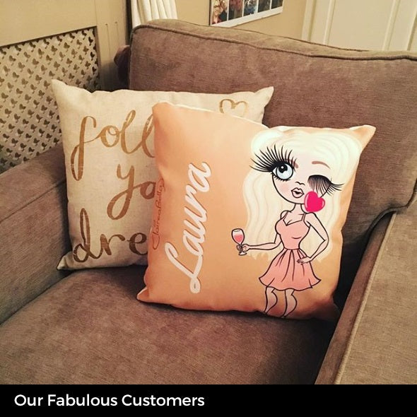 ClaireaBella Square Cushion - Dusty Pink - Image 7